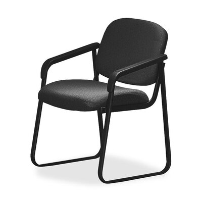 Deluxe Sled Base Chair with Arms Seat Color: Onyx