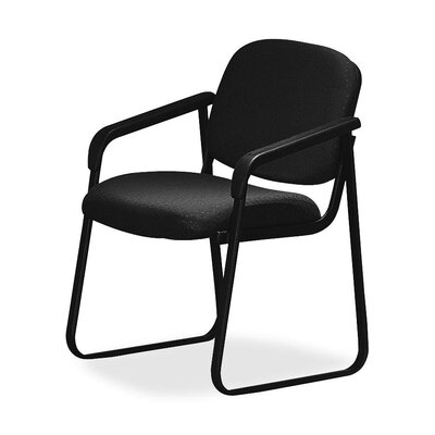 Deluxe Sled Base Chair with Arms Seat Color: Black
