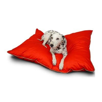 "Super Value Dog Pillow Color: Red, Size: Large (46"" L x 35"" W)"