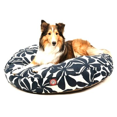 "Plantation Round Dog Pillow Size: Medium (36"" L x 36"" W), Color: Navy Blue"