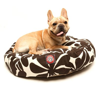Plantation Round Pet Bed Size: Medium - 36 W x 36 D, Color: Yellow