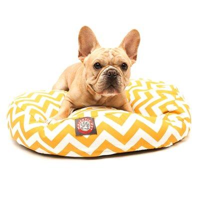 "Zig Zag Round Dog Pillow Size: Large (42"" L x 42"" W), Color: Sage"