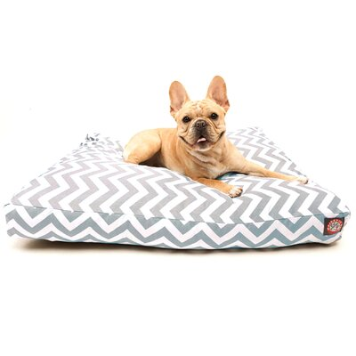 "Zig Zag Rectangle Dog Pillow Size: Large (50"" L x 42"" W), Color: Black"