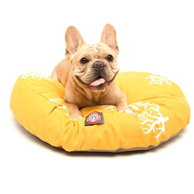 Coral Round Pet Bed Pillow Size: Small (30 L x 30 W), Color: Yellow