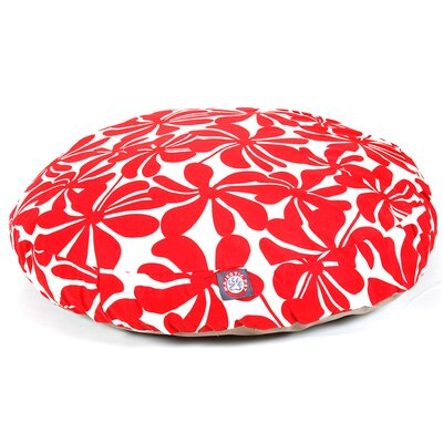 "Plantation Round Dog Pillow Size: Medium (36"" L x 36"" W), Color: Red"