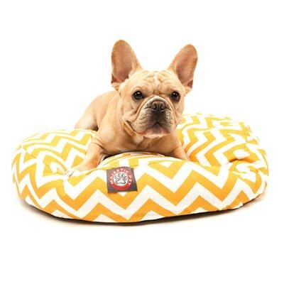 "Majestic Pet Zig Zag Round Pet Bed - Size: Small (30"" W x 30"" D), Color: Burnt Orange"
