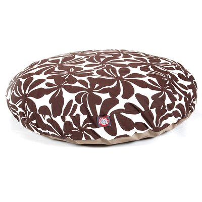 Plantation Round Pet Bed Color: Chocolate, Size: Medium - 36 W x 36 D