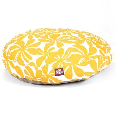 "Plantation Round Dog Pillow Size: Medium (36"" L x 36"" W), Color: Yellow"