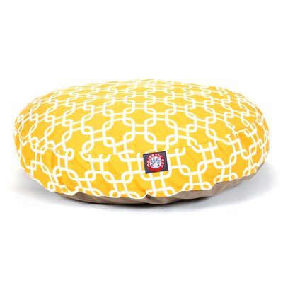 "Links Round Dog Pillow Color: Yellow, Size: Small (30"" L x 30"" W)"