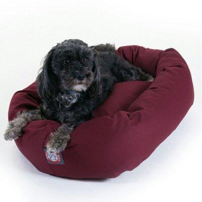 """Bagel Donut Dog Bed Color: Burgundy, Size: Medium (32"""" L x 28"""" W)"""