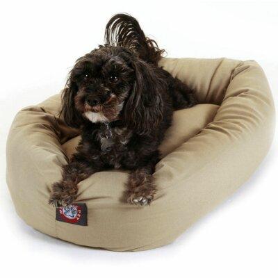 "Bagel Donut Dog Bed Color: Khaki, Size: Medium (32"" L x 28"" W)"