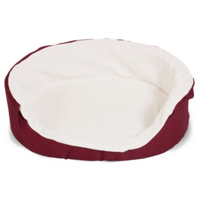 """Lounger Orthopedic Nest Dog Bed Color: Burgundy, Size: Small (23"""" L x 18"""" W)"""