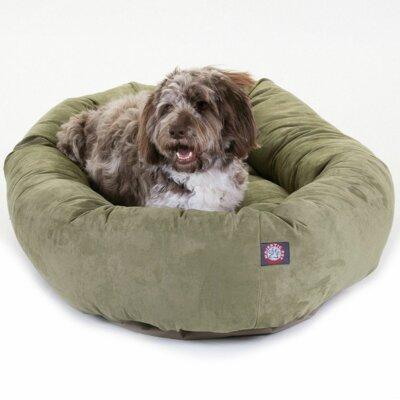 """Bagel Donut Dog Bed Color: Sage, Size: Medium (32"""" L x 28"""" W)"""
