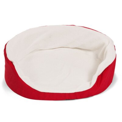 "Lounger Orthopedic Nest Dog Bed Color: Red, Size: Small (23"" L x 18"" W)"