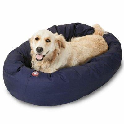 "Bagel Donut Dog Bed Size: Extra Large (52"" L x 36"" W), Color: Blue"