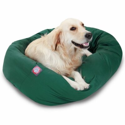 """Bagel Donut Dog Bed Size: Extra Large (52"""" L x 36"""" W), Color: Green"""