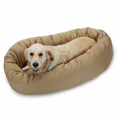 "Bagel Donut Dog Bed Size: Large (40"" L x 31"" W), Color: Khaki"