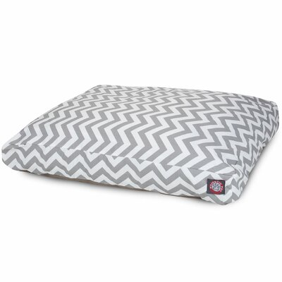 Zig Zag Pillow Pet Bed Color: Gray, Size: Extra Small (20 W x 27 D)