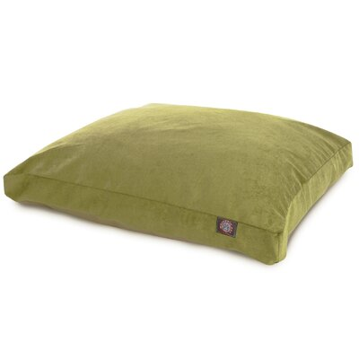 Villa Rectangle Pet Bed Size: Medium (44 L x 36 W), Color: Navy
