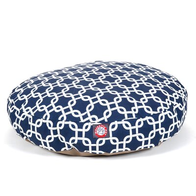 Links Round Pet Bed Size: Small (30 W x 30 W), Color: Navy Blue