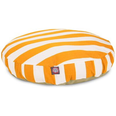 Vertical Stripe Round Pet Bed Size: Small (30 W x 30 D), Color: Yellow