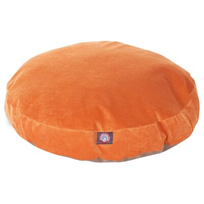 Villa Round Pet Bed Size: Small - 30 L x 30 W, Color: Orange