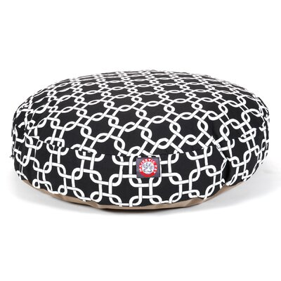 Links Round Pet Bed Size: Medium (36 W x 36 W), Color: Black