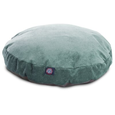 Villa Round Pet Bed Size: Small - 30 L x 30 W, Color: Azure