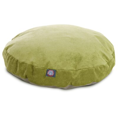 Villa Round Pet Bed Color: Apple, Size: Large - 42 L x 42 W