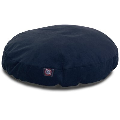 Villa Round Pet Bed Size: Small - 30 L x 30 W, Color: Navy