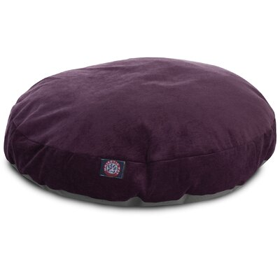 Villa Round Pet Bed Size: Small - 30 L x 30 W, Color: Aubergine