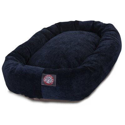 Bagel Dog Bed Size: 52 D x 35 W, Color: Navy
