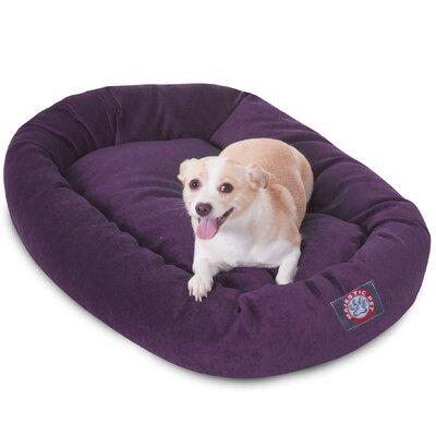 Bagel Dog Bed Size: 32 D x 23 W, Color: Aubergine