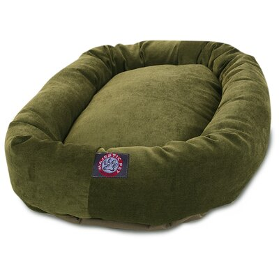Bagel Dog Bed Color: Orange, Size: 52 D x 35 W