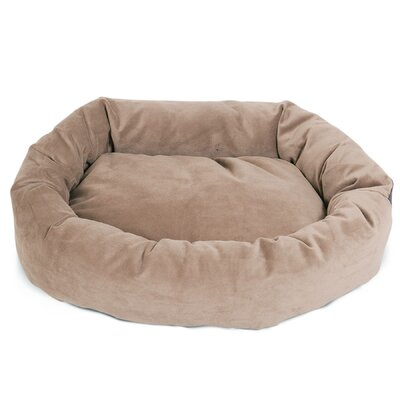 Bagel Donut Dog Bed Size: Large (7 H x 31 W), Color: Stone