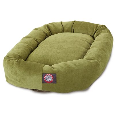Bagel Dog Bed Size: 32 D x 23 W, Color: Apple - Green