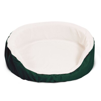 Lounger Orthopedic Nest Pillow Dog Bed Size: Medium (28 L x 21 W), Color: Green