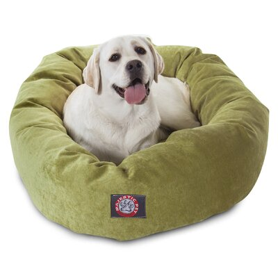 Bagel Dog Bed Color: Apple - Green, Size: 40 D x 29 W