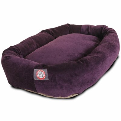 Bagel Dog Bed Color: Aubergine, Size: 32 D x 23 W
