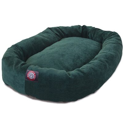 Bagel Dog Bed Size: 32 D x 23 W, Color: Marine