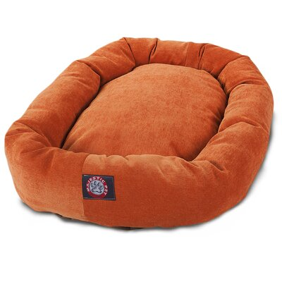 Bagel Dog Bed Size: 40 D x 29 W, Color: Orange
