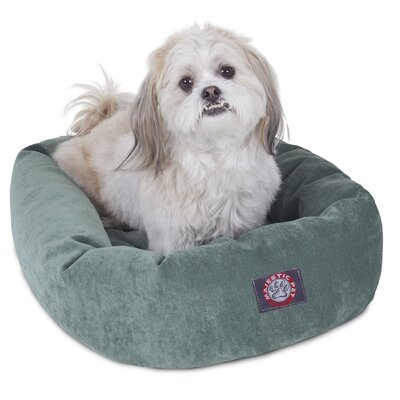 Bagel Dog Bed Size: 40 D x 29 W, Color: Azura