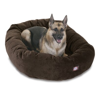 Bagel Dog Bed Color: Storm, Size: 52 D x 35 W