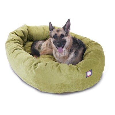 Bagel Dog Bed Color: Apple - Green, Size: 52 D x 35 W