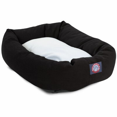 Patrice Pillow Pet Bed Size: Large (40 H x 29 W), Color: Black
