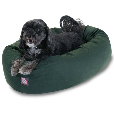 Bagel Donut Dog Bed Color: Green, Size: Medium (32 L x 28 W)