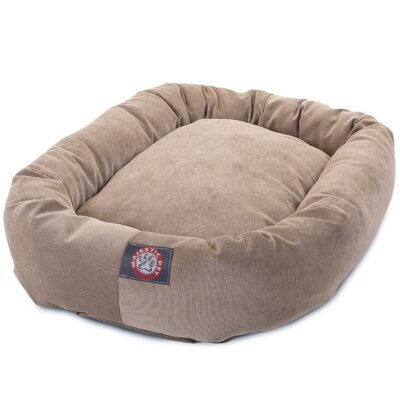 Bagel Dog Bed Size: 24 D x 19 W, Color: Pearl