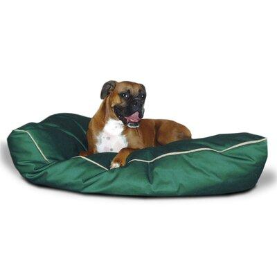 "Super Value Dog Pillow Color: Green, Size: Large (46"" L x 35"" W)"
