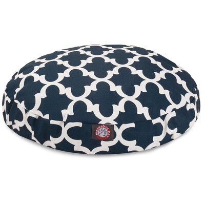 Trellis Round Dog Bed Size: Large (42 L x 42 W), Color: Navy