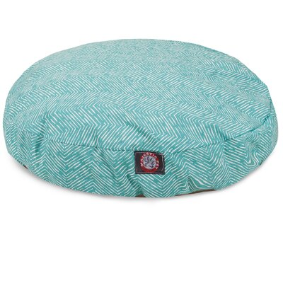 Southwest Round Pet Bed Size: Large - 42 L x 42 W, Color: Teal